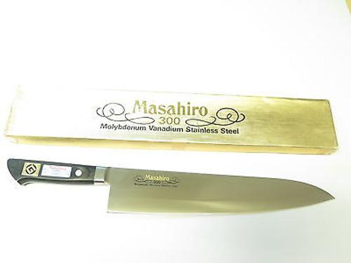 "MASAHIRO 13714 MV 11.75"" 300mm CHEF FIXED BUTCHER KNIFE KITCHEN CUTLERY SEKI NOS"