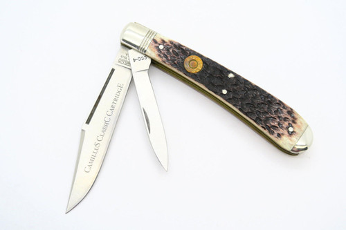 VINTAGE CAMILLUS USA CCC-4 CARTRIDGE 257 ROBERTS BULLET TRAPPER FOLDING POCKET KNIFE