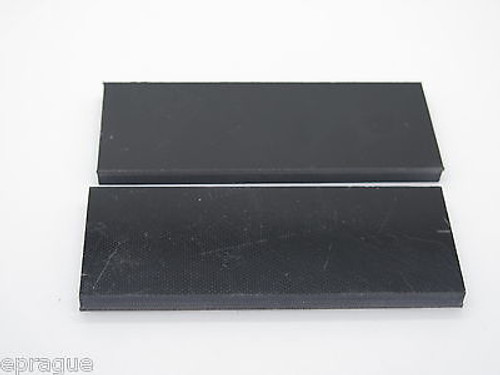 "2 pcs BLACK G10 1/4 SCALE SLAB KNIFE MAKING HANDLE MATERIAL BLANK 4"" LONG"