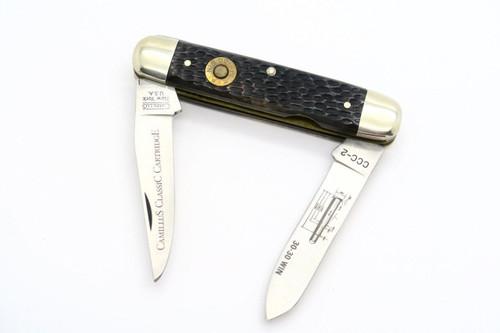 VINTAGE CAMILLUS USA CCC-2 CARTRIDGE 30-30 WINCHESTER MUSKRAT FOLDING POCKET KNIFE
