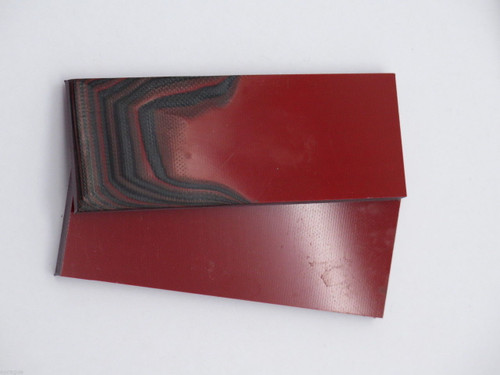 2 pcs G10 1/4 RED BLACK SCALE SLAB KNIFE MAKING HANDLE MATERIAL BLANK PART