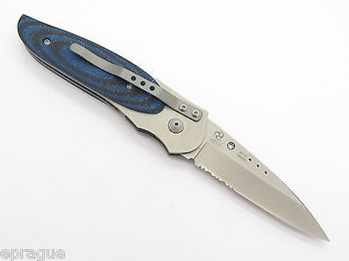Vtg NOS Columbia River CRKT 8012 Viele Wasp Large Serrated Folding Pocket Knife