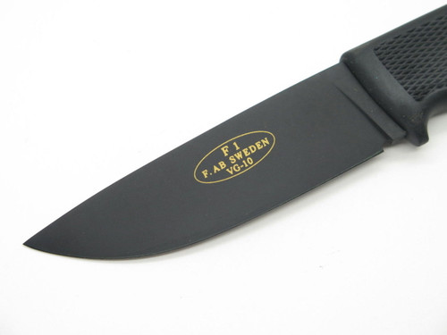 Fallkniven F1 VG10 Black Handle Fixed Blade Hunting Knife Vtg F. AB Sweden
