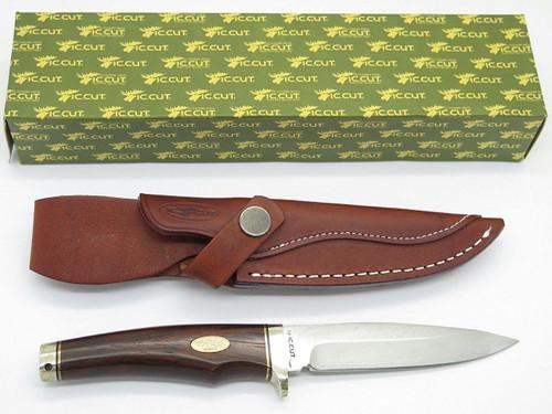 IC.Cut IC-601F Hiro Seki Japan VG-10 San Mai Damascus Fixed Blade Hunting Knife