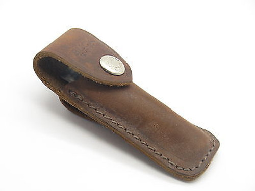 Buck 301 501 Squire Brown Distressed Leather Folding Pocket Knife Sheath