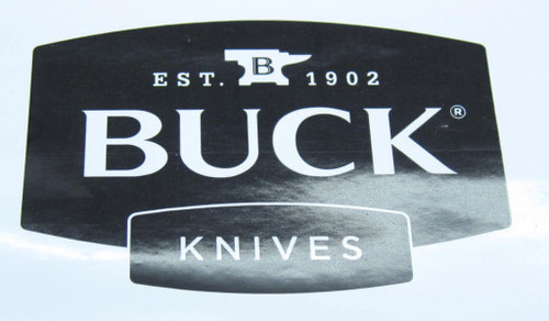 BUCK KNIFE WINDOW / BUMPER STICKER 110 119 COLLECTOR MEMORABILIA GIFT