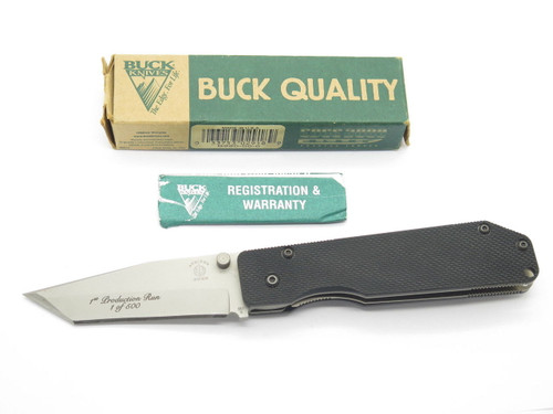 Buck 880 Strider BG-42 Tactical Folding Pocket Knife Limited 1st Production Run
