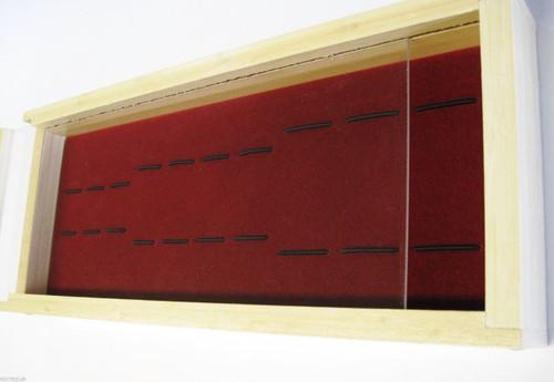Bamboo Wood Knife Display Case Pocket Folding Collector Buck 110 112 301 Kershaw