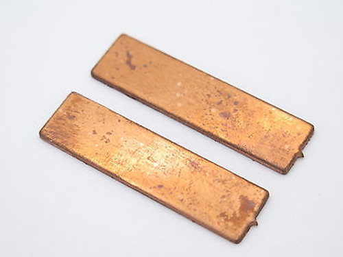 "2 Pack - USA 1.625"" x 0.040"" Copper Spacer Fixed Blade Knife Handle Making Part"