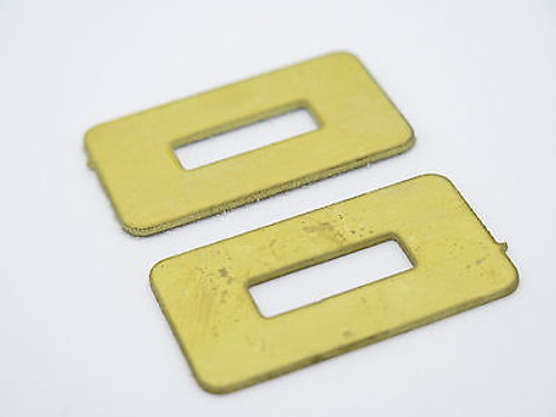 Lot of 2 - USA 0.040 Brass Spacer Fixed Blade Knife Handle Making Part