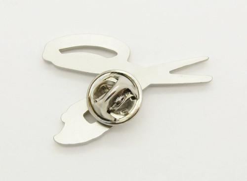 BUCK KNIVES 030 SPLIZZORS FISHING HUNTING SCISSORS TIE TACK LAPEL HAT PIN GIFT
