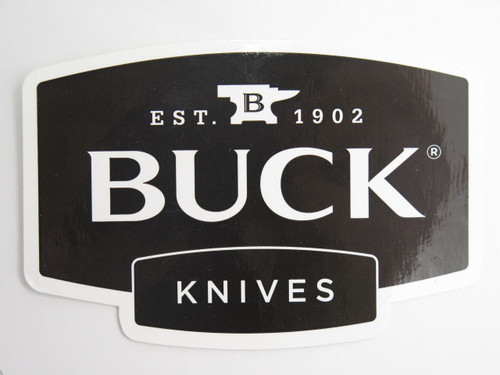 BUCK KNIVES LOGO WINDOW / BUMPER STICKER 110 112 119 COLLECTOR GIFT