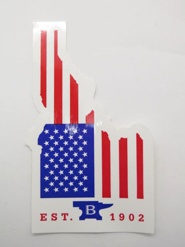 Buck Knives Idaho USA Flag Window / Bumper Sticker 110 112 119 Collector Gift