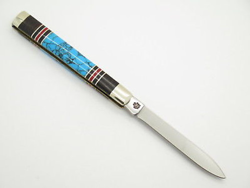 2001 Case XX 3185 Doctor Folding Pocket Knife Exotic Custom Wood Turquoise