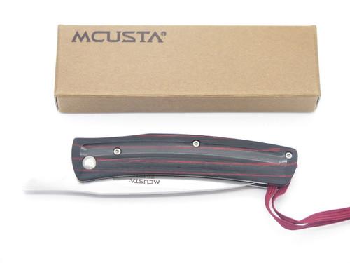 MCUSTA HIGONOKAMI RED WOOD & VG-10 HIGO FRICTION FOLDER POCKET KNIFE SEKI