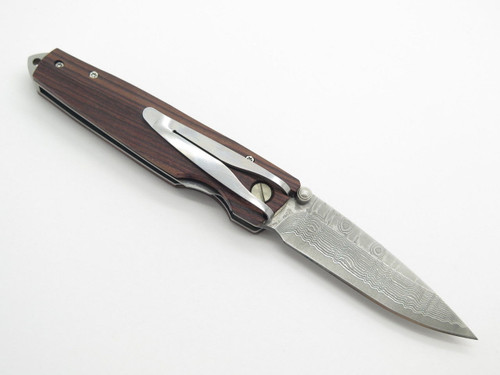 MCUSTA SEKI JAPAN GENTLEMAN MC-53DR ROSEWOOD VG-10 DAMASCUS FOLDING POCKET KNIFE
