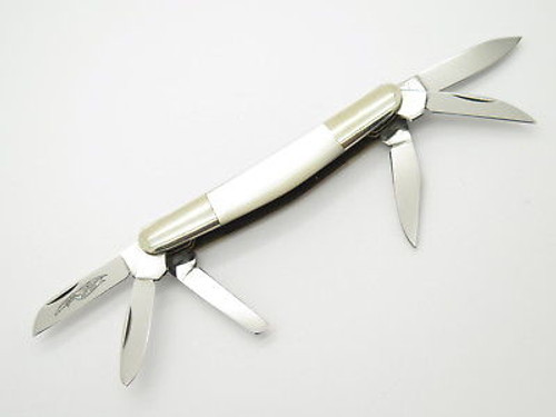 Vtg Parker Seki Japan 6 Blade Congress Pearl MOP Folding Pocket Knife