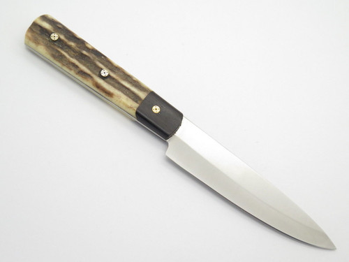 Custom Idaho USA Russell Green River Works Stag Mountain Man Hunting Knife