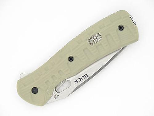 Buck 847 847TNX Vantage Force Pro S30V Tan G10 Folder Pocket Knife Part Serrated