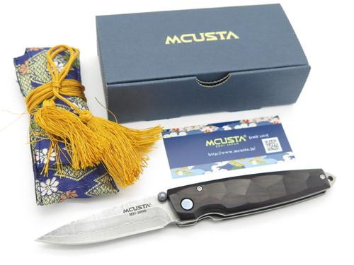Mcusta Seki Japan Tsuchi MC-79D Ebony Wood VG-10 Damascus Folding Pocket Knife