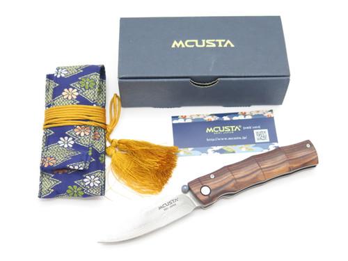 Mcusta Seki Japan Take MC-74DR Rosewood & VG-10 Damascus Folding Pocket Knife