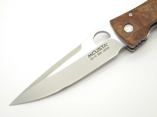 Mcusta Seki Japan Tactility Elite MC-124 Quince Burl VG-10 Folding Pocket Knife