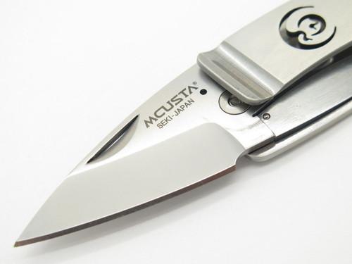 MCUSTA SEKI JAPAN KAMON MC-83 TSURU CREST AUS-8 FOLDING MONEY CLIP POCKET KNIFE