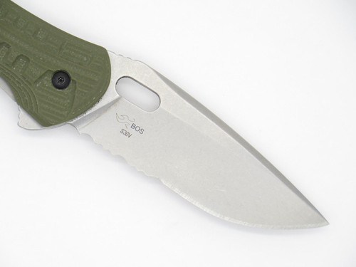 Buck 847 847ODX Vantage Force Pro S30V Green G10 Folder Pocket Knife Serrated