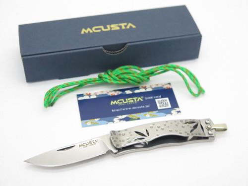 Mcusta Seki Japan Shiro-take MC-153 AUS-8 Bamboo Folding Money Clip Pocket Knife