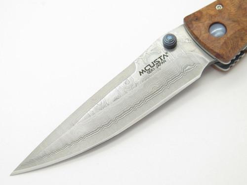 Mcusta Seki Japan Tactility Elite MC124D Quincewood VG-10 Damascus Folding Knife