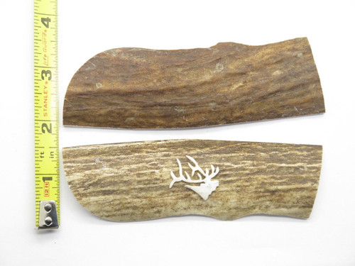 WBC 4.8 x 1.5 Elk Stag Antler Knife Making Handle Scale Grip Blank For Buck