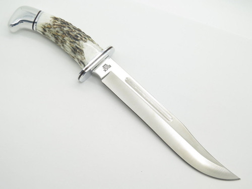 BUCK 120 120EKSLC GENERAL ELK STAG CUSTOM LIMITED FIXED BLADE HUNTING KNIFE