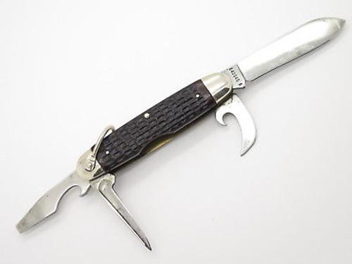 Vtg 1974 Case XX 640045 Camper Jigged Delrin Folding Pocket Camp Knife