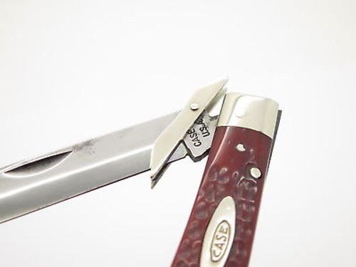 VINTAGE 1965-9 CASE XX 6111 1/2 RED BONE CHEETAH SWING GUARD FOLDING KNIFE