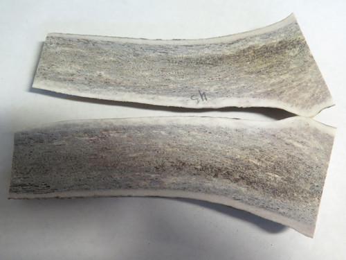 USA 6.7 x 2.2 ELK STAG ANTLER SCALE SLAB KNIFE MAKING HANDLE GRIP BLANK PAIR