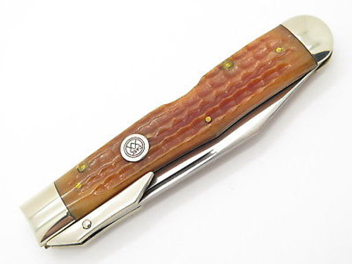 CASE CLASSIC XX 61011 1/2 CHEETAH WINE B. BULLET SWING GUARD FOLDING KNIFE