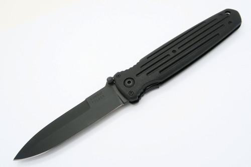 Vtg Gerber USA Black Combat Folder Applegate Fairbairn Folding Pocket Knife