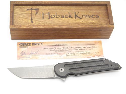 Jake Hoback Kwaiback Custom CPM-CRUWEAR Titanium Framelock Folding Pocket Knife