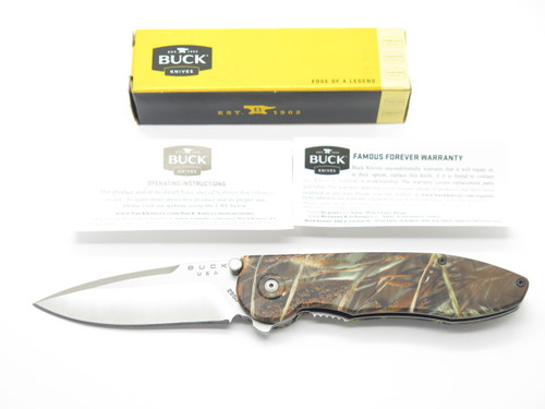 BUCK 295 295BO4 TEMPEST CUSTOM BUILDOUT CAMO ASSISTED FOLDING POCKET KNIFE