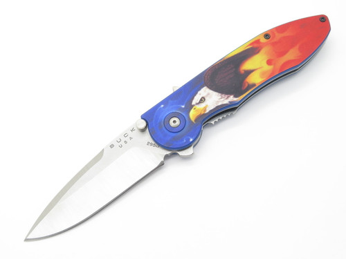 BUCK 295 295BO5 TEMPEST CUSTOM BUILDOUT EAGLE FIRE ASSISTED FOLDING POCKET KNIFE