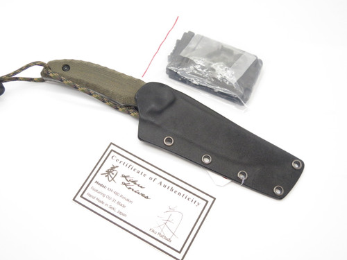 KIKU MATSUDA KM-480 RIMAKIRI SEKI JAPAN CUSTOM FIXED HUNTING SURVIVAL KNIFE
