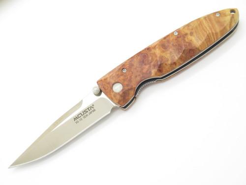 Mcusta Seki Japan Basic MC-0026 Burlwood & VG-10 Linerlock Folding Pocket Knife