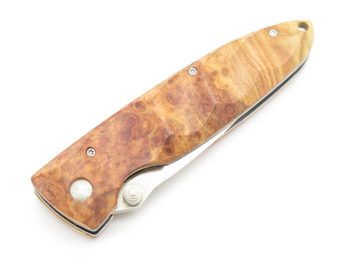 Mcusta Seki Japan Basic MC-0026 Burlwood & VG-10 Linerlock Folding Pocket Knife