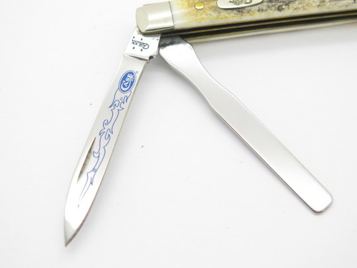 2006 Case XX 5282 Stag Blue Scroll Baby Doc Doctor Folding Pocket Knife