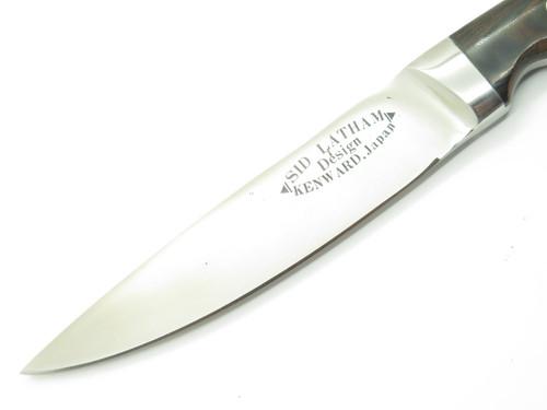 Vtg 1970s Kenward Sid Latham Seki Japan Custom AUS-10 Fixed Hunting Camp Knife