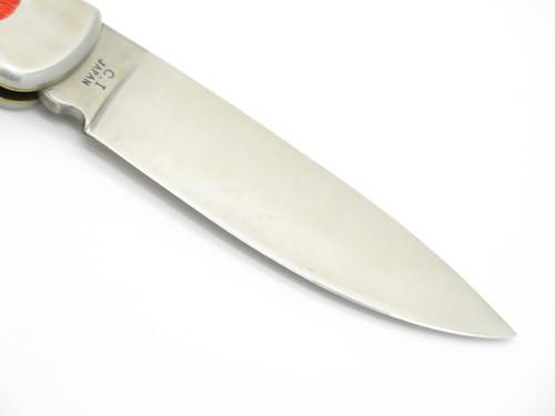Vtg 1970s C.I. Compass C Imai Seki Japan Stainless Folding Hunter Lockback Knife