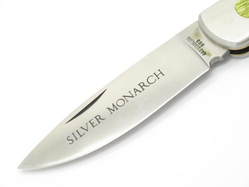 Vtg 1970s C.I. Compass D Imai Seki Japan Stainless Folding Hunter Lockback Knife