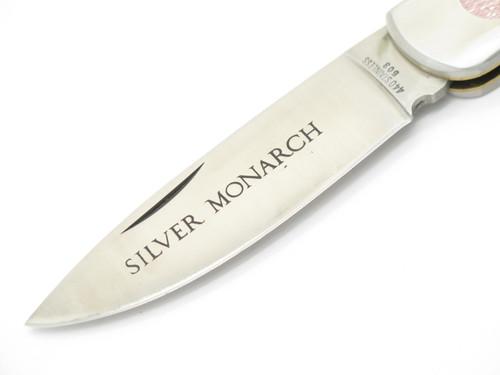 Vtg 1970s C.I. Compass E Imai Seki Japan Stainless Folding Hunter Lockback Knife