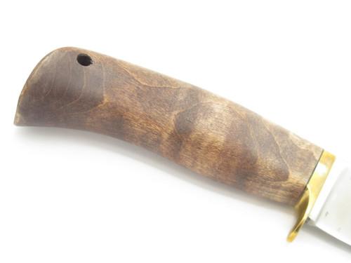 Vtg Blackjack USA Slick Maple 1095 Cryo Fixed Blade Hunting Knife & Sheath