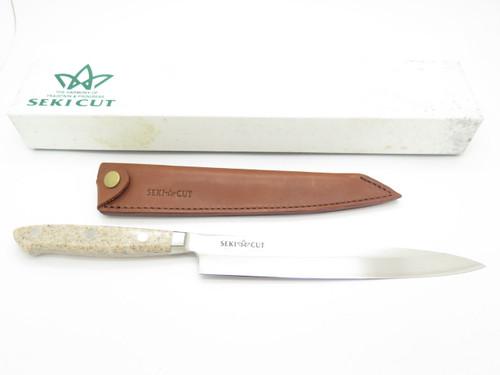VINTAGE SEKI CUT 183 T SANETSU JAPAN SASHIMI FIXED BLADE KNIFE SUSHI KITCHEN CUTLERY